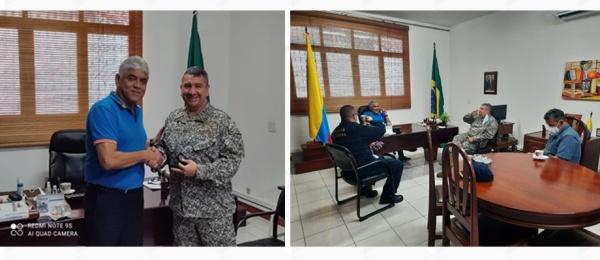 El Consulado de Colombia en Tabatinga recibió la visita del mayor General de Infantería de Marina, Ricardo Perico Pinto, Inspector General de la Armada Nacional