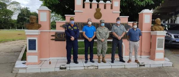 El Consulado de Colombia coordinó y acompañó al Inspector General de la Armada Nacional de Colombia, Mayor General de Infantería de Marina, Ricardo Perico Pinto, en las visitas a las unidades militares