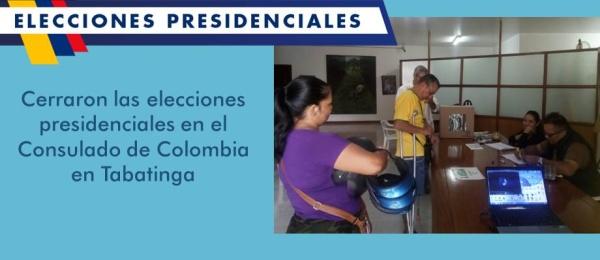 Cerraron las elecciones presidenciales en el Consulado de Colombia en Tabatinga