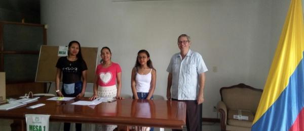 El Consulado de Colombia en Tabatinga culminó con éxito el proceso de votaciones para la Consulta Anticorrupción