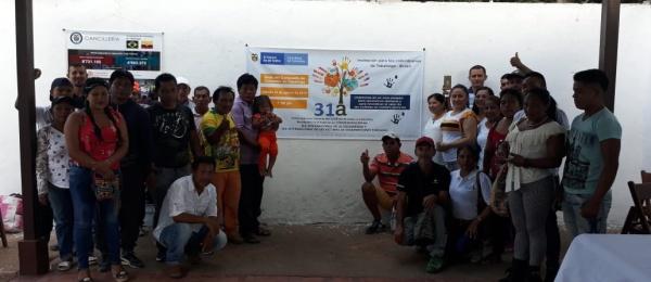 Consulado de Colombia en Tabatinga realizó un acto de homenaje y reconocimiento a las Víctimas del Conflicto Armado